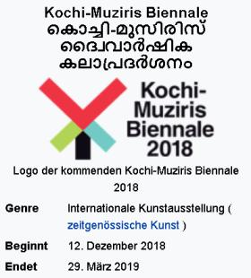 Kochi-Muziris Biennale 2018-2019